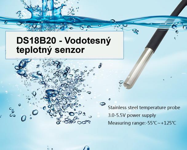 DS18B20 - Vodotesný teplotný senzor