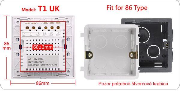 Dotykový vypínač Smart TOUCH T1UK2C