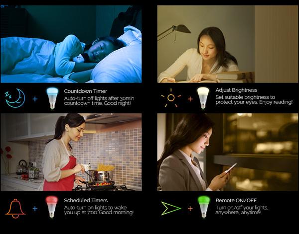 Smart B1 - inteligentná wifi žiarovka RGB