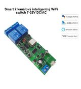 Smart 2 kanálový inteligentný WiFi switch 7-32V DC/AC (eWelink)