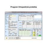 Program Ortopedická protetika